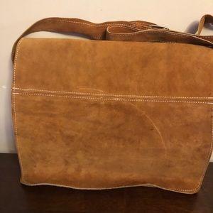 BNWT suede Egyptian handmade messenger bag.